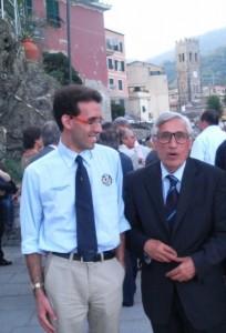 27 Giugno 2009  - Il consigliere provinciale del Pdl spezzino Corbani con l'ex governatore Fazio...
